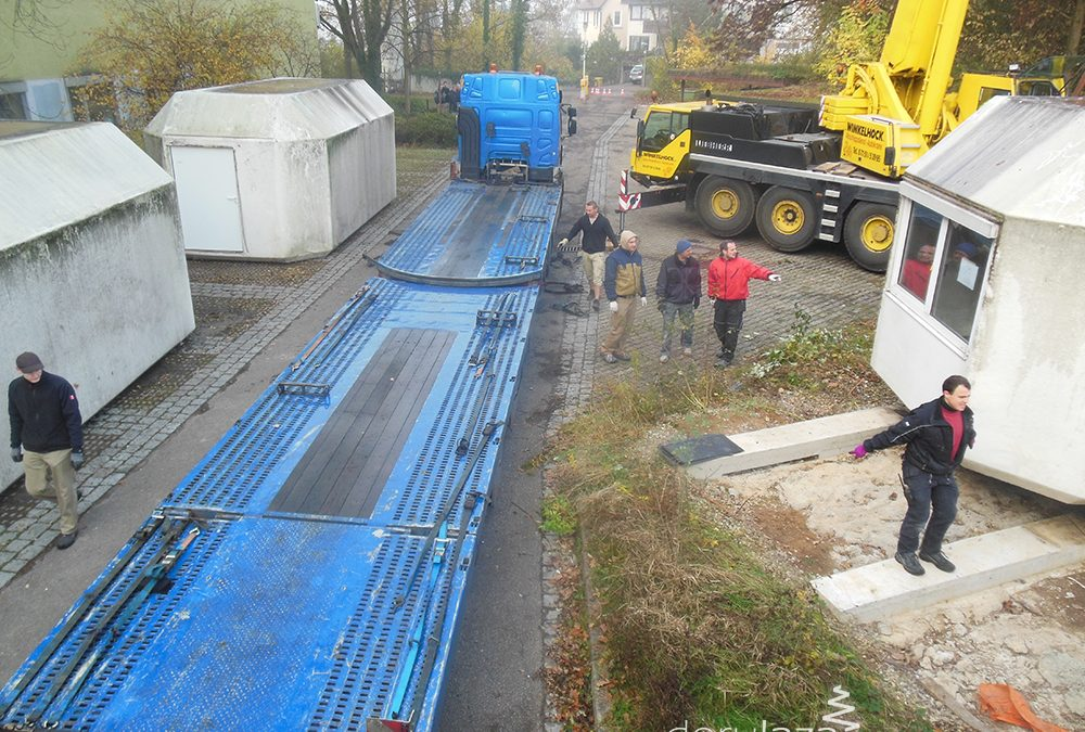 The Modular Clinic from Germany reached Şuncuiuş, Bihor, Romania